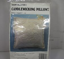 Colony Collection Candlewicking Embroidery Pillow Kit Bertha's Vineyard I