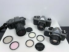 Film Camera Lot Pentax K1000 Pentax ME Super Pentax P30 Hoya Tiffen Takumar-A
