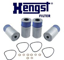 NEW Mercedes W124 190D 300D 300SD Set of 4 Engine Oil Filter Hengst OEM