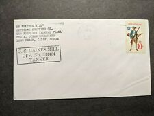 Tanker Ship SS GAINES MILL, KEYSTONE SHIPPING Co Naval Cover 1975 Cachet