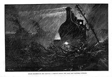 ROUGH meteorologiche sulla ferrovia-stampa antica 1884