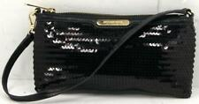 Micheal Kors Black Sequin/Leather Clutch Evening bag