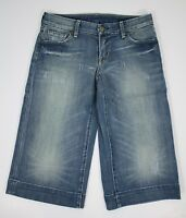 Citizens of Humanity Blue Denim Distressed Cropped Capri Pants Shorts