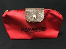 New Jet Aviation a Genereal Dynamics Co.Red Travel Cosmetic Bag FS
