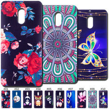 Rubber Soft Cute Gel TPU Embossing Fashion Painted Case Cover Skin For Nokia 6