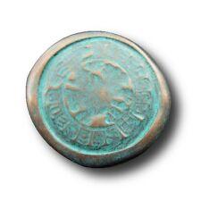 5 große antik wirkende Metall Knöpfe wie bei Ausgrabungen entdeckt (0100gr-28mm)
