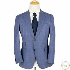 Suitsupply Sienna Blue White Vintage VBC Wool Silk Soft Tweed 2Btn Jacket 38S