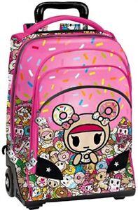 Zaino Trolley Alta Qualità Tokidoki bambina colorato con simpatici personaggi
