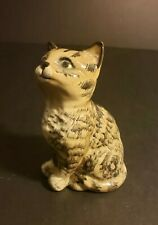 VTG Beswick Cat Figure England Striped Charcoal Gray 4 in Collectible