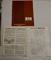 Vintage Original 1974 Marantz 2015 Stereophonic Instruction Manual & Schematic