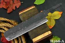 """10.1"""" Oal Hand Forged Hammered Damascus Steel Blank Blade Sushi Chef Knife (A)"""