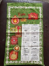 New listing Vintage Hand Towel Collectable 1975 Calendar Towel Early American Signs Retro