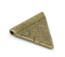 60 Perles Intercalaires Triangle Couleur bronze 14x14mm