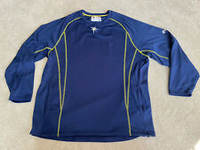 Tampa Bay Rays Blue Majestic Authentic MLB Baseball Mens Pullover L