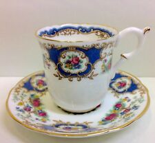 "Coalport ""Broadway Blue"" Pattern Coffee Cup & Saucer."