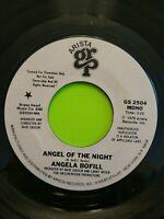 "Angela Bofill - Angel Of The Night 7"" 45 RPM Record PROMO Arista 1979"