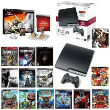 PlayStation 3 Slim 160GB Console IN BOX +15 Games Disney Infinity Bundle PS3 Lot