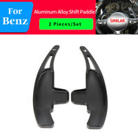 Car Steering Wheel Shift paddle Gear Shifter Extension For Benz AMG C63 Black