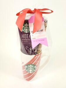 Starbucks Valentines Day Mug Gift Set Hot Cocoa Mix White Red Striped