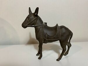 Antique Bank Donkey w Saddle Cast Iron Stillbank