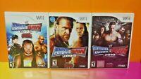 Nintendo Wii Wii U Game Lot WWE Wrestling Smackdown vs Raw ECW 2008 3009 2010