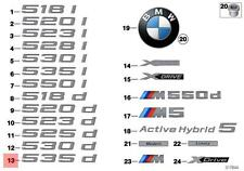 Genuine BMW F11 F11N Trunk Lid 535d Emblem Badge Logo Sign OEM 51147209166