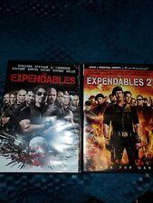 Expendables DVD Lot Trilogy Set Action Movie Bundle 1 And 2