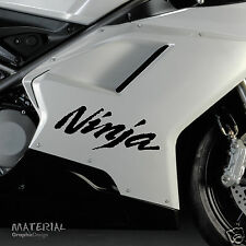 2x Kawasaki Ninja Logo Sticker Decal - Bike Vinyl Motorbike Motorcycle Race KTM