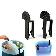 TOP Quality FASHION 2Pcs Garbage Can Waste Bin Trash Can Bag Clip Holder S-