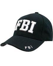 Militaire Combat ''FBI'' 100% Coton Noir Bec de canard Pic Casquette Baseball