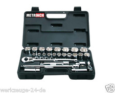 """METRINCH 1/2"""" Socket Wrenches Set 26-tlg. Metric Inch Box for of MET-0427"""