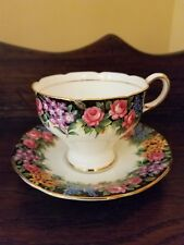 Paragon Old English Garden Corset Cup & Saucer c.1939 Double Warrant MINT