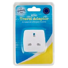 1X UK To EU Euro Europe European Travel Adaptor Plug 2 Pin Adapter *CE Approved*