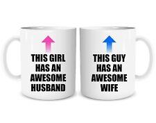 Funny Couples Coffee Mug Set Awesome Husband Wife Wedding Gift Present Cups 1788