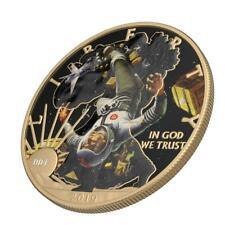 USA 2019 1$ Classic Sci-Fi - Gravitation 1 Oz Silver Coin with Varnish