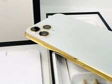 24K Gold Plated Apple iPhone 11 Pro Max - 256 GB Silver Unlocked CDMA GSM CUSTOM