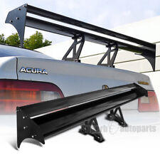 "Black Aluminium 52"" Double Dual Deck GT Wing Trunk Rear Spoiler"