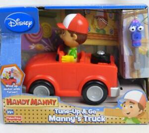 Handy Manny Tune Up & Go Truck Disney Wind Up Motor w/ Turner Tool Fisher Price