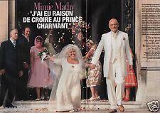 Coupure de presse Clipping 2005 Mimie Mathy   (4 pages) mariage