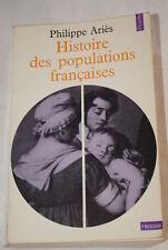 HISTOIRE DES POPULATIONS FRANCAISES ARIES POINT HISTOIRE 1971