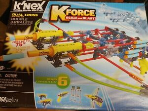 K'Nex KForce Build And Blast Dual Cross Set #47526. 368 Pieces Builds 6 Items