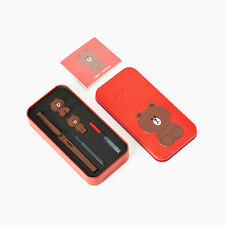 LINE Friends New LAMY BROWN in the RED Limited Edition Safari Fountain Pen Gift