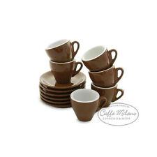 Espresso Tassen braun dickwandig Made in Italy - 6 Stück - Caffe Milano