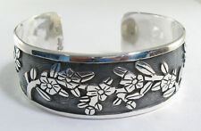 925 sterling silver cuff bracelet with branch design by Maria Belen