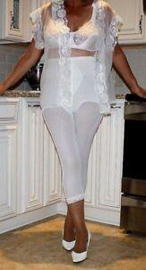 Vint Subtract Elite Lace Tummy Panel Firm Control Long Leg Pants Liner Bg Med