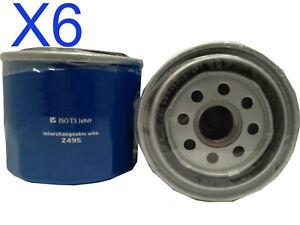 6X Oil Filter fits Z495 Subaru Outback Impreza Liberty Forester Wesfil WZ495