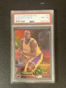 PSA 8 1996 Flair Showcase #10 Shaquille O'Neal Row 1 LA LAKERS Only 8 HIGHER!