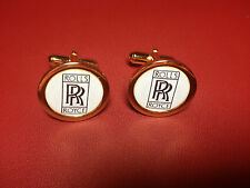 ROLLS ROYCE HIGH QUALITY GOLD PLATED CUFFLINKS IN DISPLAY CASE