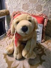 "KIDS PREFERRED 12"" Stuffed Plush Yellow Lab Golden Retriever PUPPY Dog EUC"