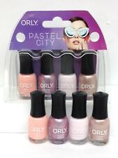 Orly Nail Lacquer - PASTEL CITY - MINI Pack of 4 Colors x 0.18oz/5.3ml
